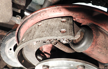 Re-lined Rear Brake Shoe Fitted