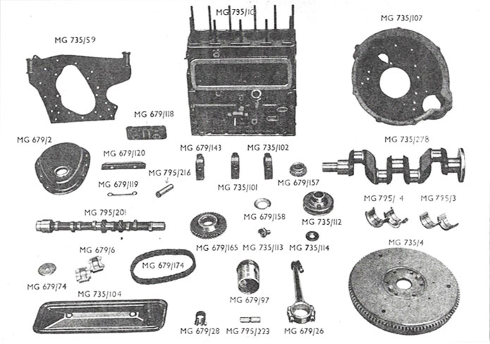 Figure 2 - Engine Components - Wet Clutch